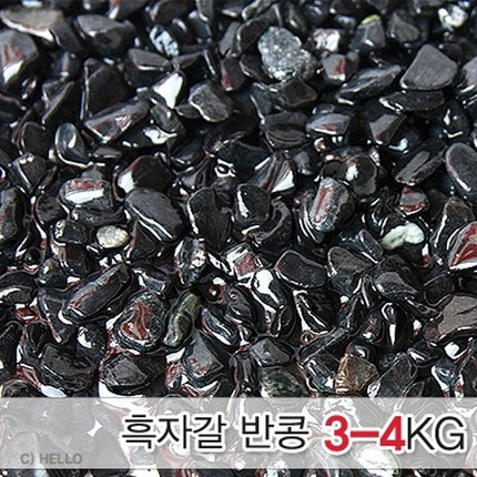 흑자갈 반콩알크기 3~4kg-어항 수족관 열대어 바닥재/헬로아쿠아