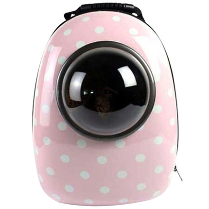 뉴엔에스 반려동물 우주선 가방, 그래픽 핑크