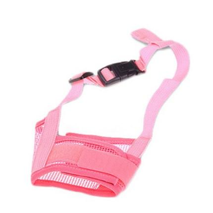 댕댕이샵 반려동물 통기성 매쉬 훈련용 입마개 M, 핑크, 1개