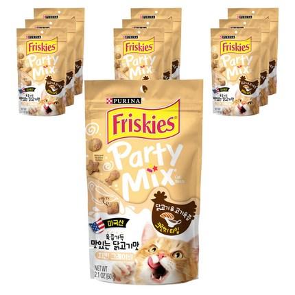 퓨리나 프리스키 파티믹스 고양이 간식 60g, 치킨 그레이비, 10개
