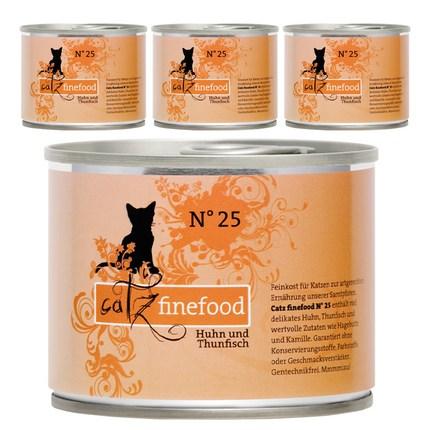 캣츠파인푸드 전연령용 NO.25 닭고기와 참치 고양이 주식캔 4p, 닭, 200g