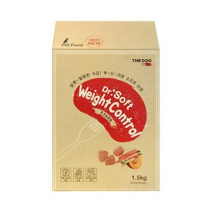 더독 닥터소프트 노령 프리미엄 소프트사료 치킨 웨이트컨트롤, 1.5kg, 닭