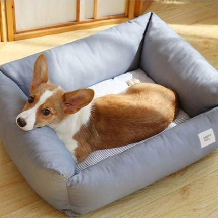 해피펫츠 커버분리형 강아지 꿀잠 방석, 그레이