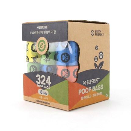 도그아이 반려동물 휴대용 산화생분해 배변봉투 324p, 랜덤발송, 1개
