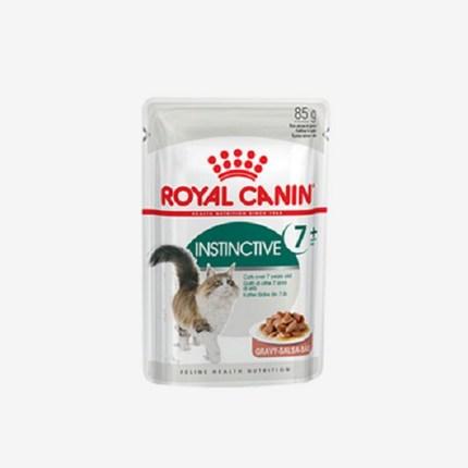 덕&몰 [칼로리 근육 요로 고양이 인스팅티브7+파우치 85gx3개] 고양이간식, 85g, 3개