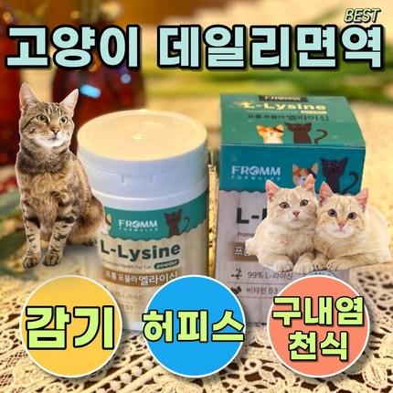 고양이 감기약 허피스약 구내염약 항생제 엘라이신, 영양제1개 + 완피츄르 1세트(5개)