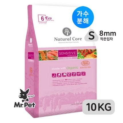 네츄럴코어 에코6 센시티브솔루션연어(작은알)10kg+보노스낵3종, 10kg, 1개입