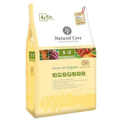 네츄럴코어 전연령 오리 에코4 유기농 슬림다운 반려견 사료, 5.2kg, 1개