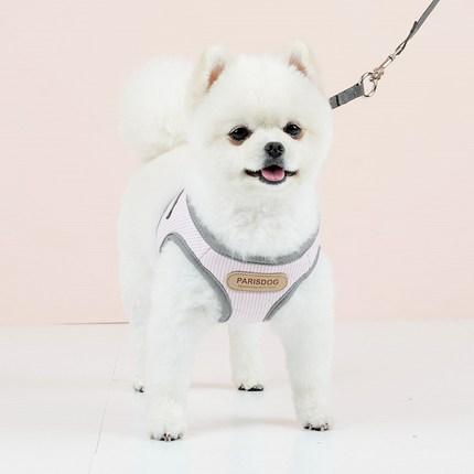 패리스독 프레시 강아지 하네스 + 리드줄 M, 핑크, 1세트