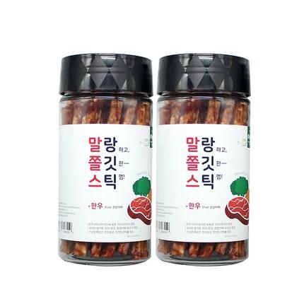 푸르미 강아지 말랑 쫄깃 스틱 180g, 한우 + 혼합야채, 2개