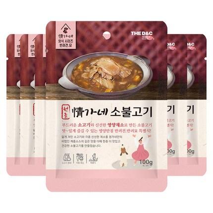 더독 강아지 정가네 소불고기 파우치, 5개