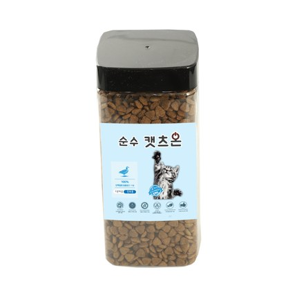 순수캣츠온500g 고양이 길냥이사료샘플, 500g, 1개