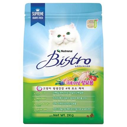 비스트로 뉴트리나 어덜트 고양이 사료, 닭, 2kg