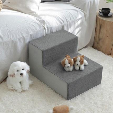 쁘리엘르 히스 삼중직 강아지 계단커버, 그레이