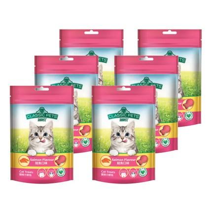 클래식펫츠 전연령 고양이 간식 6p, 연어, 80g