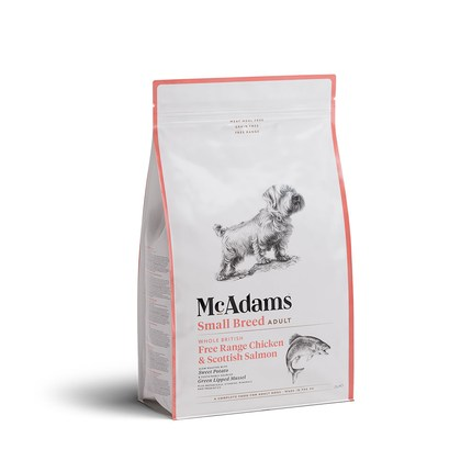 맥아담스 방목 치킨과 연어 소형견용 사료 2kg
