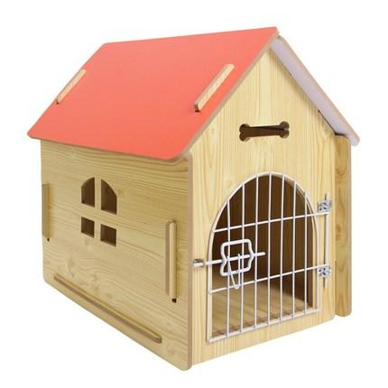애구애구 강아지집 원목하우스 다홍지붕, 나만의 저택 다홍색 L