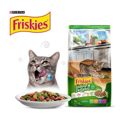 퓨리나 프리스키 인도어 헤어볼 고양이 사료, 1.1kg, 2개