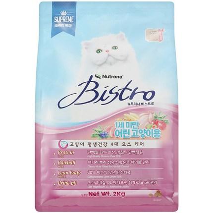 뉴트리나 비스트로 키튼 고양이 사료, 2kg, 1개