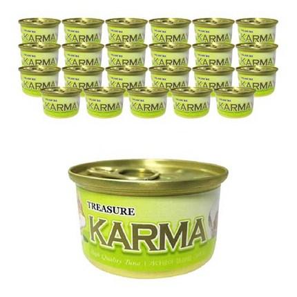 카르마 고양이 원형 캔 가다랑어 + 라이스, 80g, 24개입
