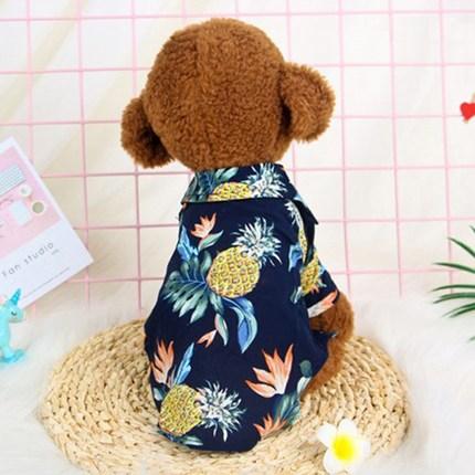 요기쏘 강아지 고양이 여름 하와이안 셔츠, 네이비