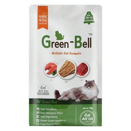 그린벨 전연령용 고양이 건식사료, 곡물, 1kg