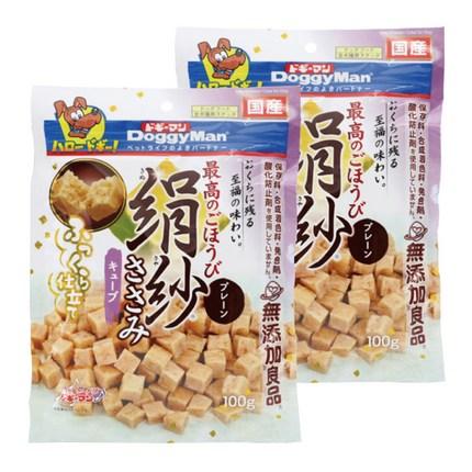 도기맨 강아지간식 부드러운 큐브 져키 100g, 치킨맛, 2개