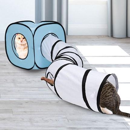 딩동펫 고양이 큐브 터널하우스, 블루, 1개