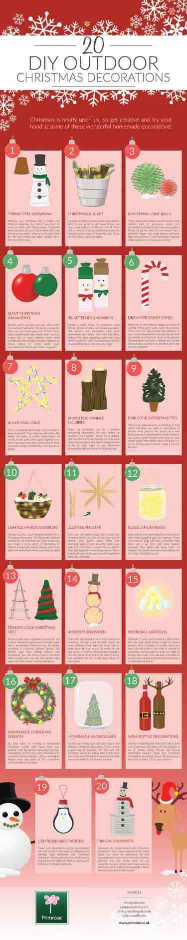 20 Diy Outdoor Christmas Decorations Visual Ly