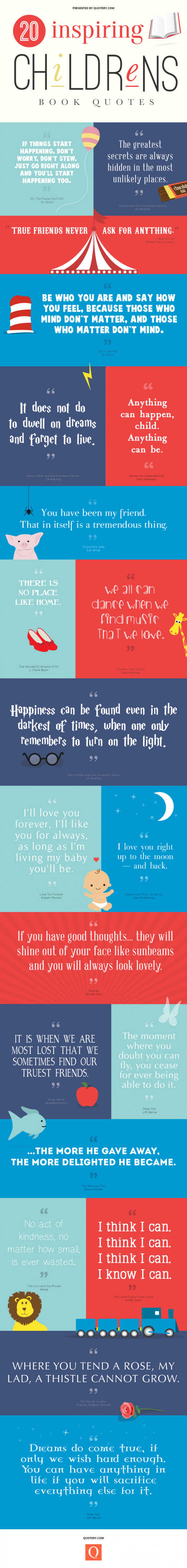 20 Inspiring Children�s Book Quotes