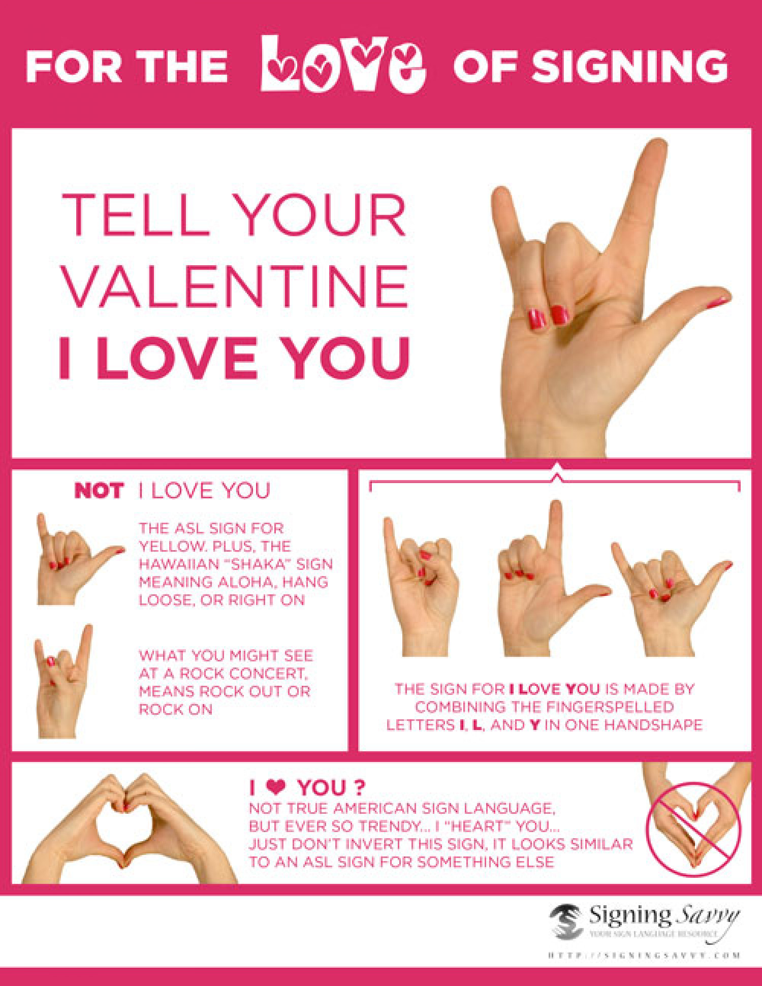 Tell Your Valentine I Love You In American Sign Language