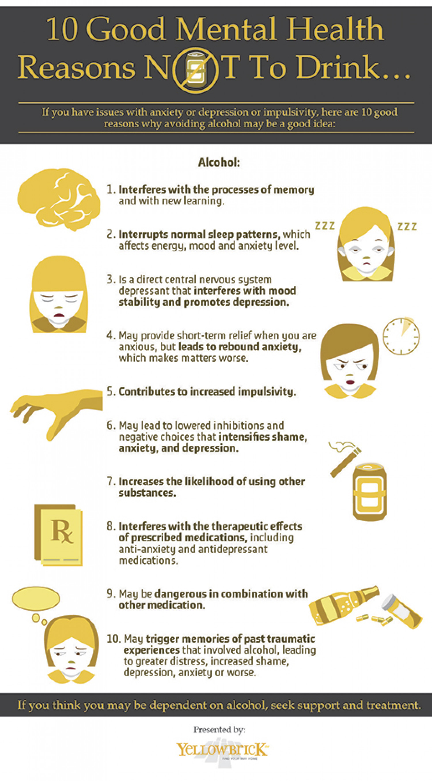 Ten Mental Health Reasons Not To Drink Alcohol
