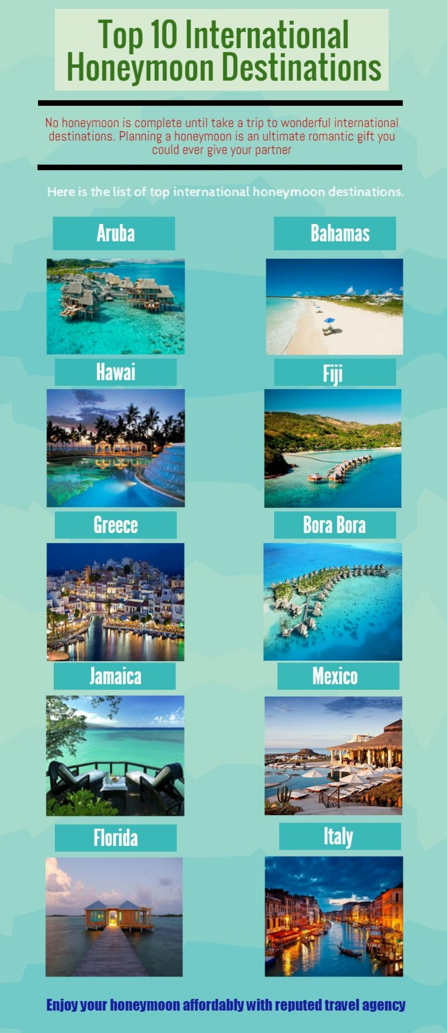 International Honeymoon Packages
