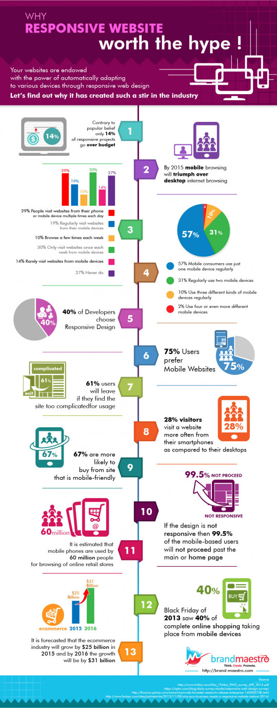 Why Responsive Website's worth the hype! - Stats Infographic