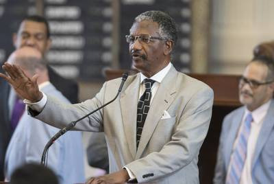 Having represented property owners in forfeiture lawsuits, Democratic state Rep. Harold Dutton filed a bill last year that would have required a criminal conviction for such forfeitures.