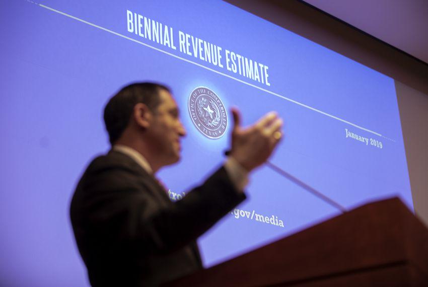 Texas Comptroller Glenn Hegar presents the Biennial Revenue Estimate for 2020-21.