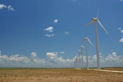 Wind farm near Fluvanna Texas, Jul. 2, 2006.