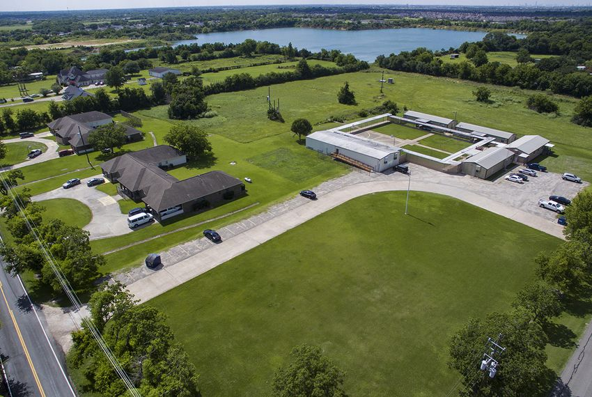 Shiloh Treatment Center, shown in an aerial photograph, is near Manvel, Texas, south of Houston, and has received more than $33 million from the federal government for the care of immigrant youths.