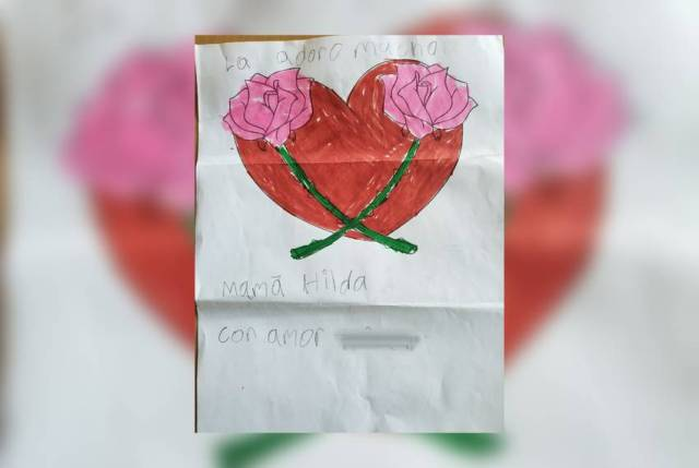 An 8-year-old boy detained at a children's shelter in Phoenix, Arizona, sends a drawing to his grandmother in the mail. The boy and his three siblings were separated from their mother after crossing the Texas-Mexico border earlier this summer.
