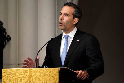Texas Land Commissioner George P. Bush eulogizes his grandfather, former President George H.W. Bush, on Thursday, Dec. 6, 2018 at St. Martin's Episcopal Church in Houston |