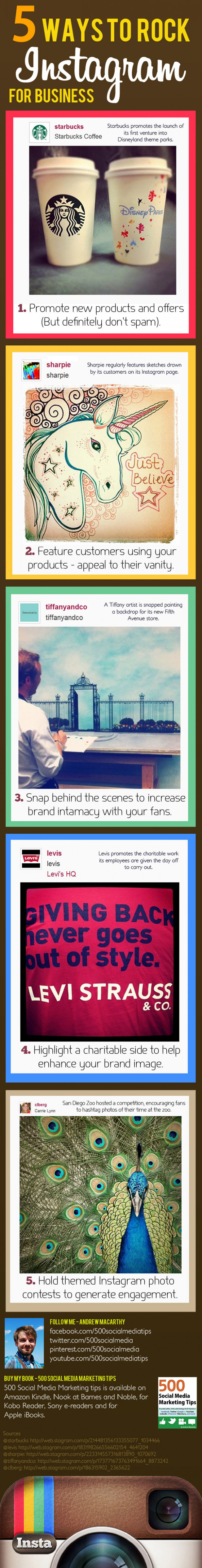 5 Ways to Rock Instagram For Business Infographic