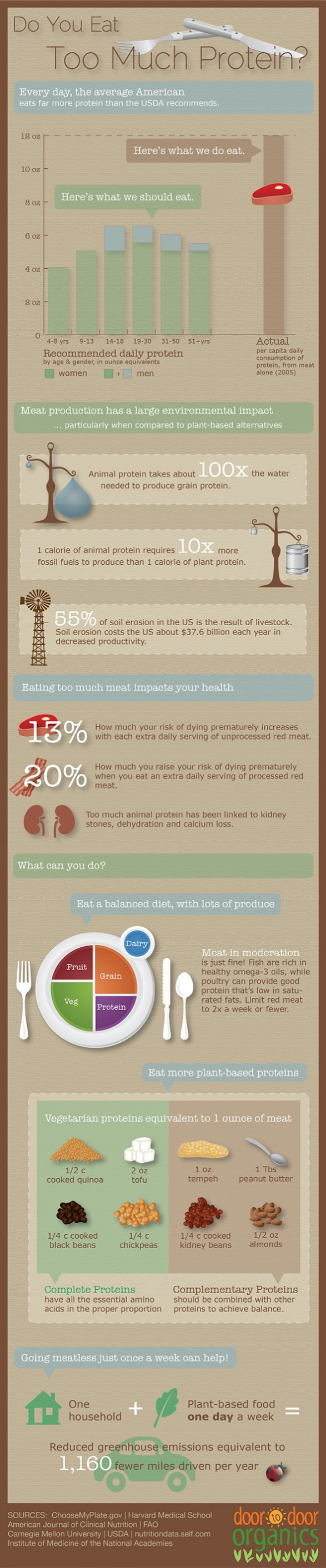 Infographic: Do you eat too much protein?