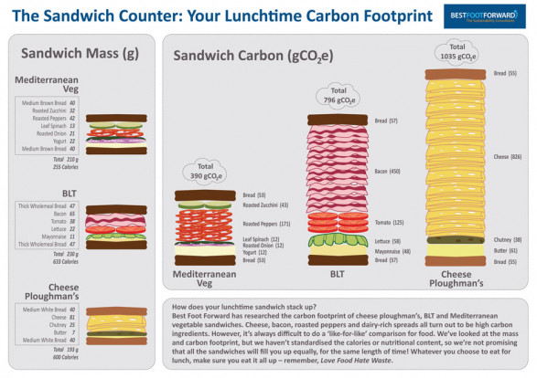 The Sandwich Counter: Your Lunchtime Sandwich Footprint