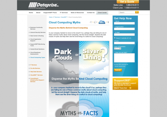 Disperse the Myths Behind Cloud Computing
