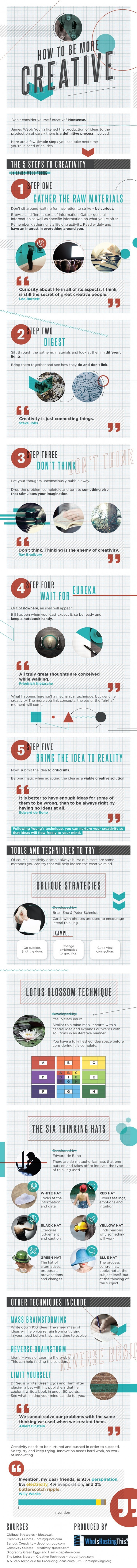 How to Be More Creative [Infographic]