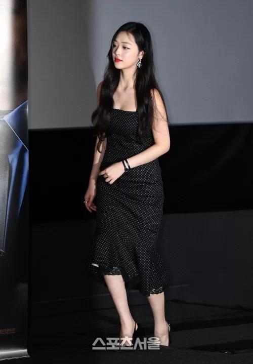 [SS포토]영화 '리얼'의 설리, 긴 원피스 패션으로