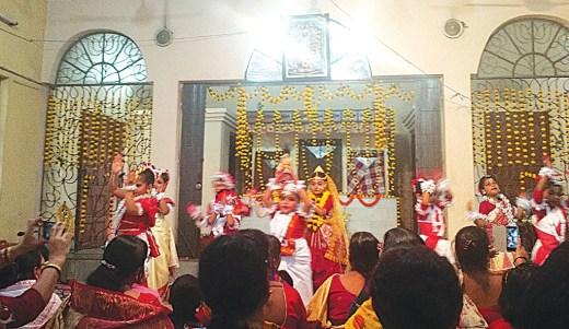 A cultural programme at Saraswati Shishu Mandir, Hatiara.