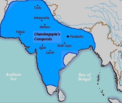 Chandragupta Maurya's Empire according to Jain texts (Kulke, Hermann; Rothermund, Dietmar (2004), A History of India (4th ed.), <a href=