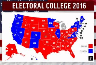 Image result for 2016 election results electoral college