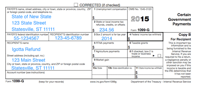 Worksheet State And Local Income Tax Refund Worksheet